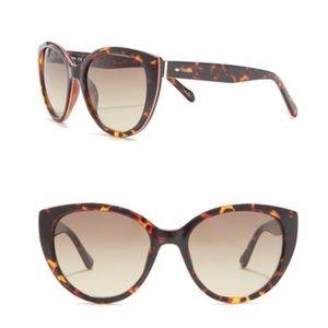 Fossil cat eye 53mm sunglasses